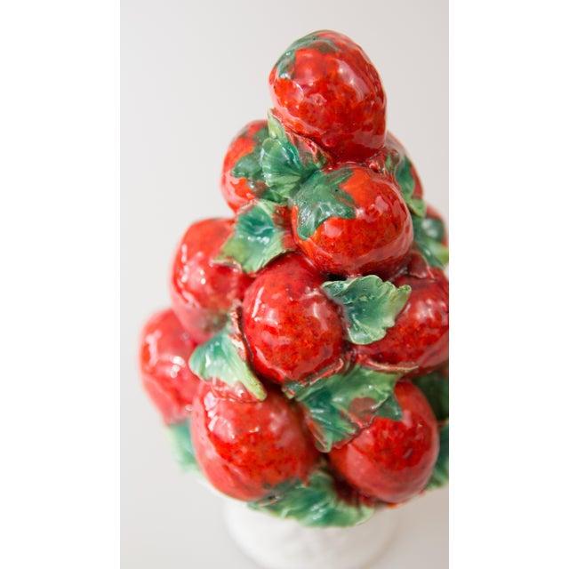 Farmhouse Vintage Italian Majolica Strawberry Topiary For Sale - Image 3 of 7