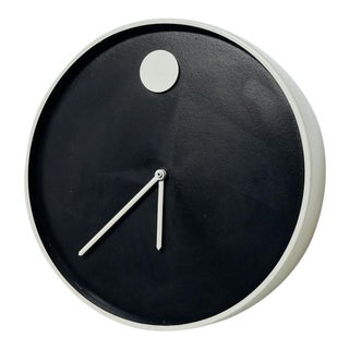 Modernist Howard Miller 'Museum' Wall Clock For Sale