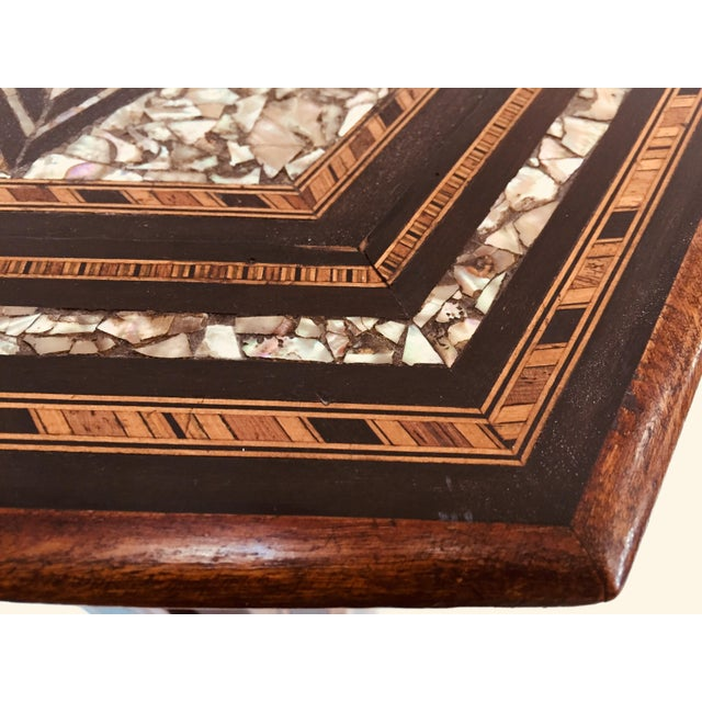 19th Century Moorish Mother-Of-Pearl Inlaid Table For Sale - Image 4 of 13