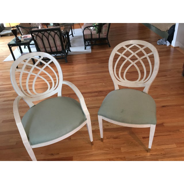 White Henredon Dining Table & Chairs For Sale - Image 8 of 9