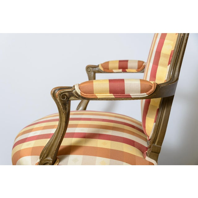 Late 19th Century Painted French Fauteuils - a Pair For Sale - Image 10 of 11