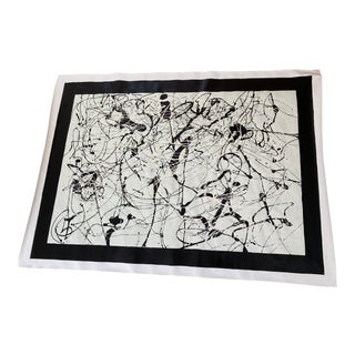 Large Print in the Style of Jackson Pollock For Sale