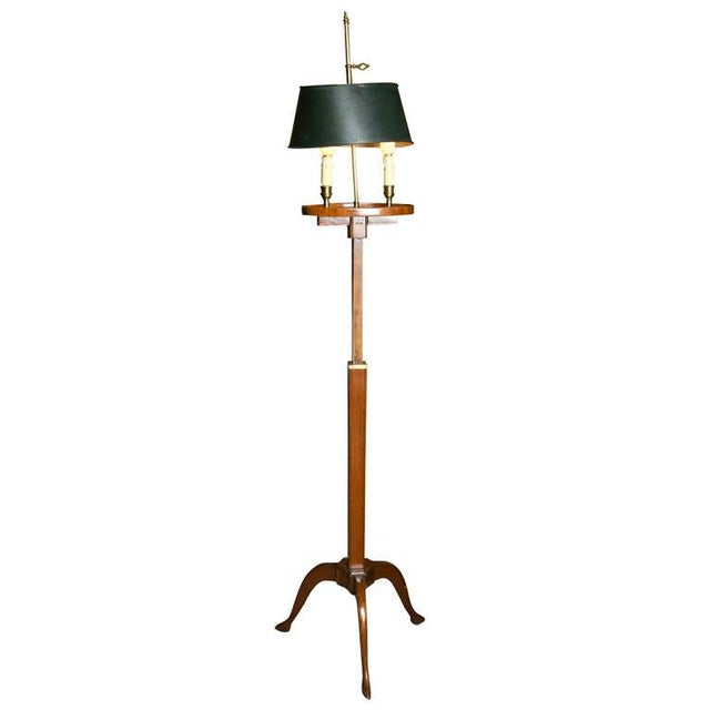 Mahogany Bouillotte Floor Lamp by Jansen - Image 1 of 7