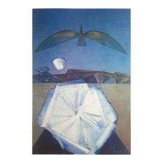 """Max Ernst Rare Vintage 1979 Dumont Art Calendar Lithograph Print Surrealist Poster """" Apres Moi Le Sommeil """" 1958 For Sale"""