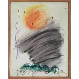 """Dorothy Heller Ny Abstract Expressionist 1962 """"Little Sun"""" For Sale"""