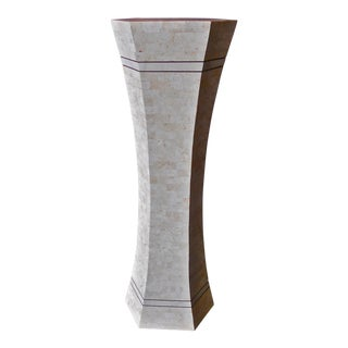Marble and Brass Pedestal