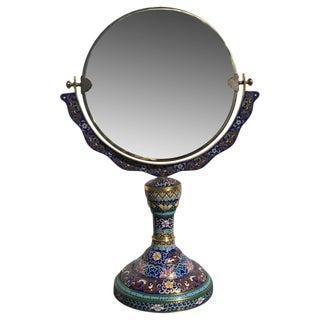 Chinese Cloisonne Bronze Mirror, 1940s