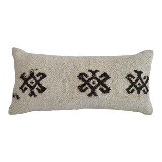 Lumbar Pillow Cover. 100% Natural Hemp Turkish Kilim Pillow Sham Throw - 13ʺ X 26ʺ For Sale