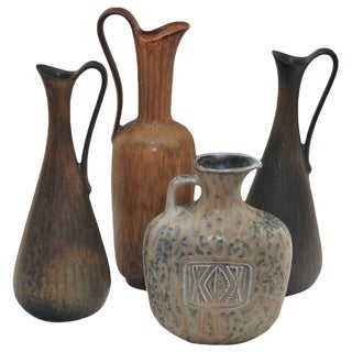 Set of Four Vases by Gunnar Nylund For Sale