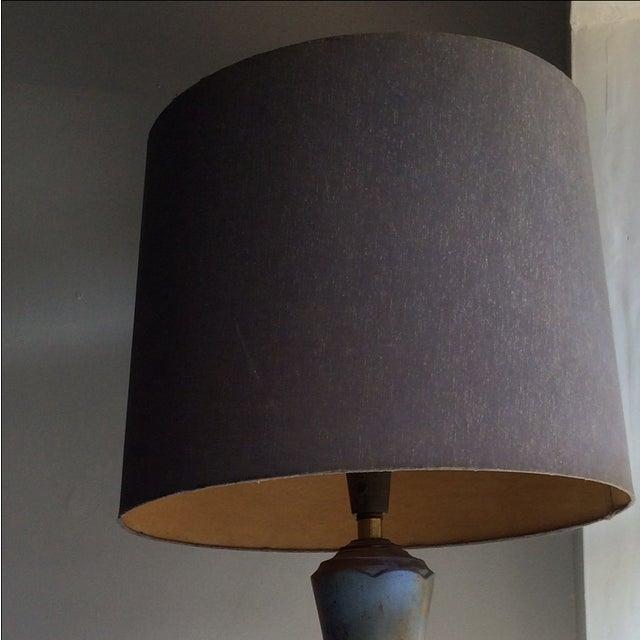 Brown TYE of California Brown Ceramic Table Lamp For Sale - Image 8 of 11