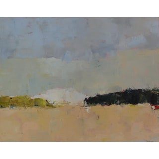 "Abstract Landscape Painting Oil on Canvas, ""Hedges 2"" by Bill Tansey For Sale"