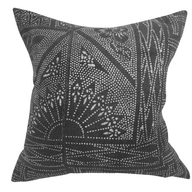 Vintage Brown Batik Pillow - Image 1 of 5