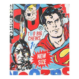 'Superman, Two Big Chews' Painting For Sale