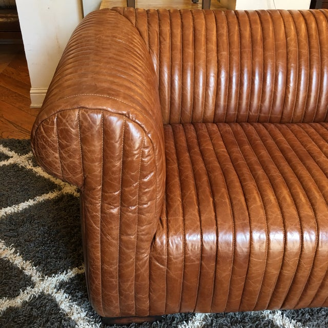 New Artsome Logan Sofa in Cognac Color Leather For Sale - Image 5 of 11