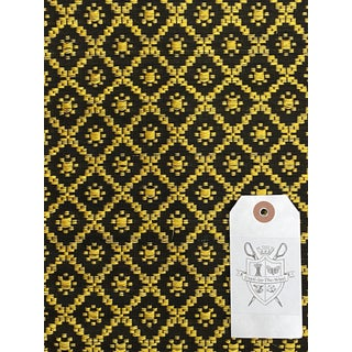 Le Crin/Metaphores in Yellow on Black, Horsehair-Blend Fabric - 4 Yards For Sale