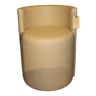 Workstead Custom Stool in Cream Leather For Sale