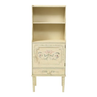 Adam Style White Painted Cabinet For Sale