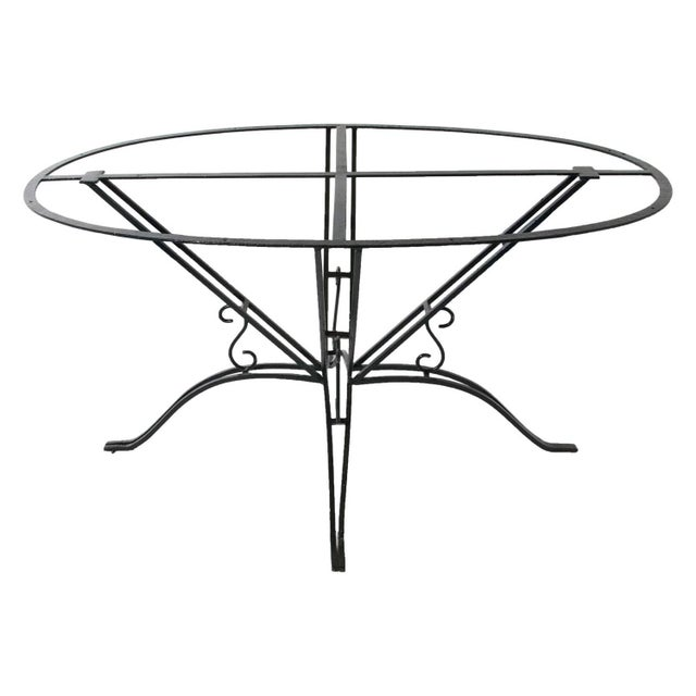 Metal Wrought Iron Garden Table For Sale - Image 7 of 7