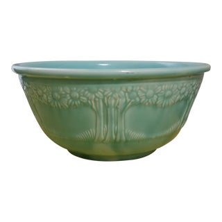 1930s Vintage Homer Laughlin Apple Blossom Mixing Bowl For Sale