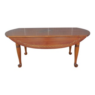 """L. Hitchcock Drop Side Coffee Cocktail Table 42""""L"""