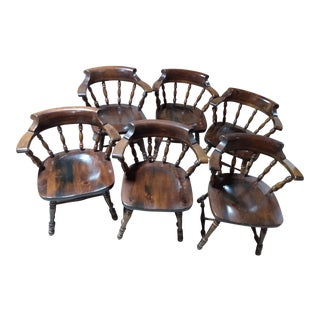 Ethan Allen Wood Chair Tones of Wood Color For Sale