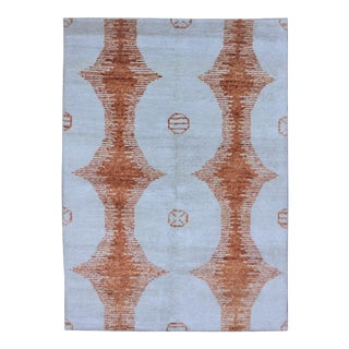 Hand Knotted Ikat Bamboo Rug by Aara Rugs Inc. - 12' X 9' For Sale