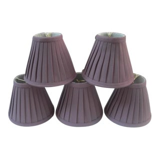 Mini Pleated Lamp Shades - Set of 5