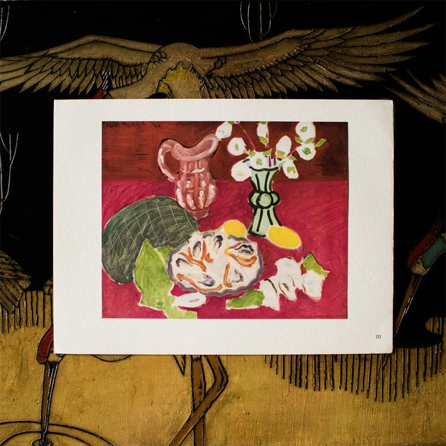 """French 1946 Henri Matisse Original """"Christmas Roses and Oysters"""" Period Parisian Lithograph For Sale - Image 3 of 8"""