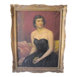 1950's Debutante Painting For Sale
