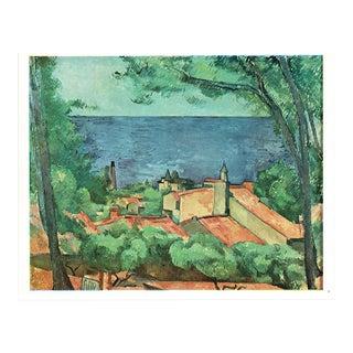 """1940s Paul Cezanne """"Seascape at L'Estaque"""", Swiss Lithograph For Sale"""