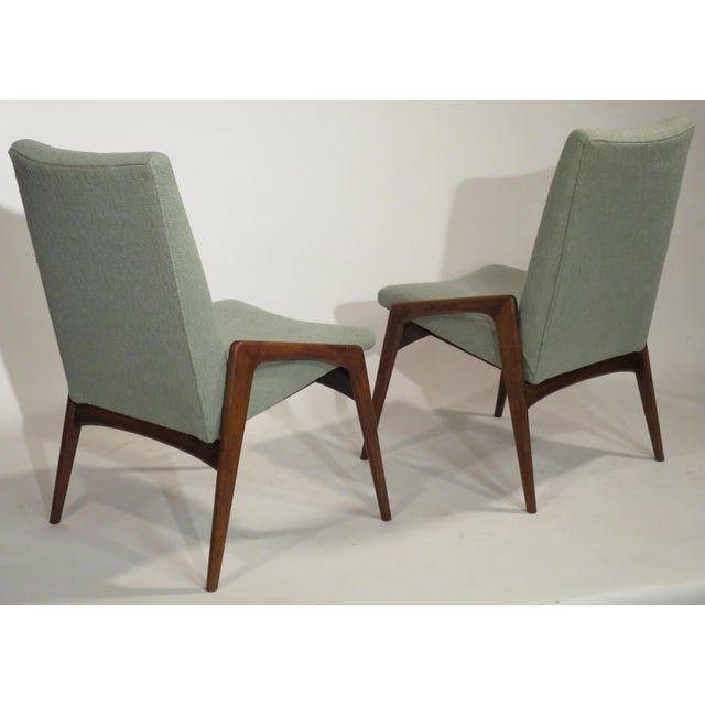 Midcentury Modern Walnut Dining Chairs - Set of 4 - Image 9 of 10