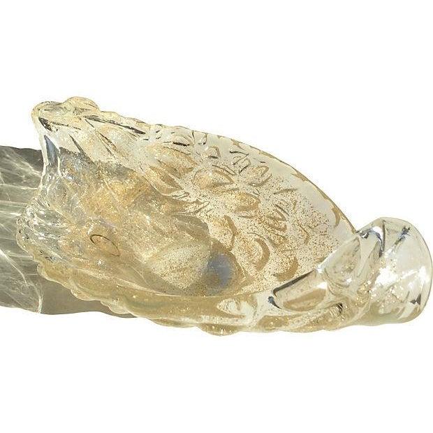 Lavorazione Arte Murano Gold Fleck Leaf Glass Bowl - Image 4 of 6