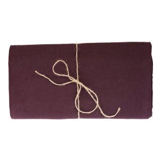Aubergine Linen Tablecloth 260 x 300 For Sale