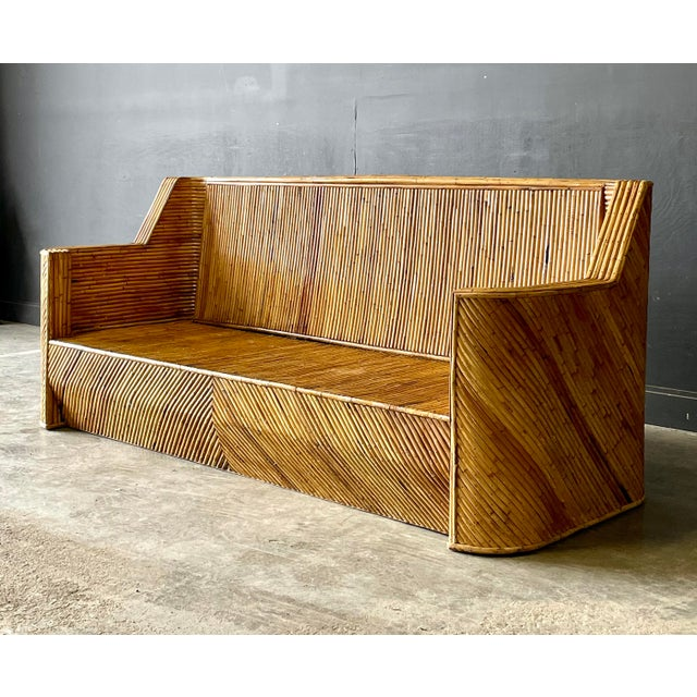 Vintage Bamboo Sofa For Sale - Image 10 of 10