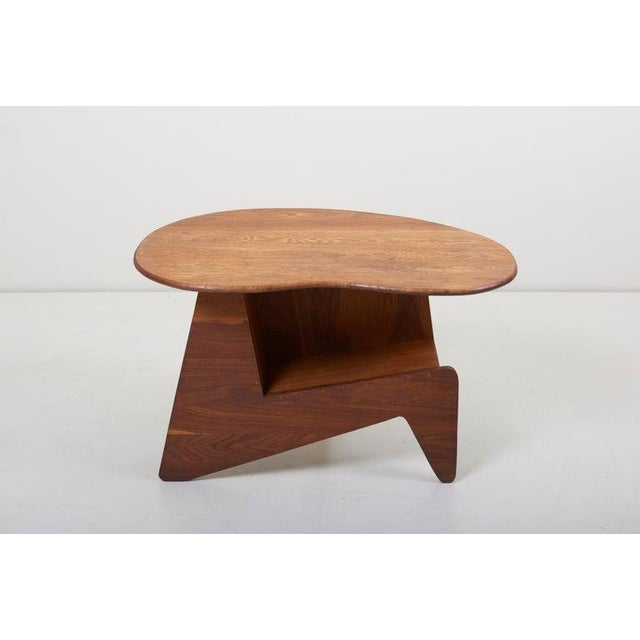 Pair of wooden mid-century modern studio side tables.