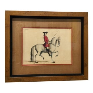 Framed Eisenberg 18th Century Dressage Engraving