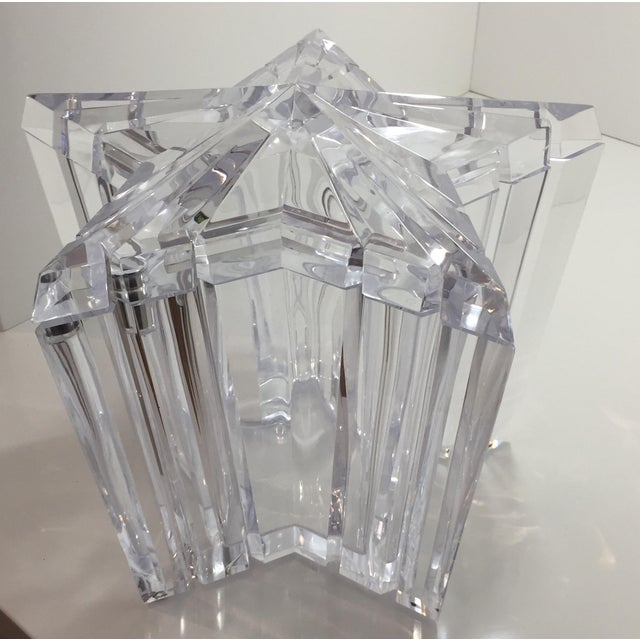 1970s Vintage Alessandro Albrizzi Lucite Star Ice Bucket For Sale In San Francisco - Image 6 of 11