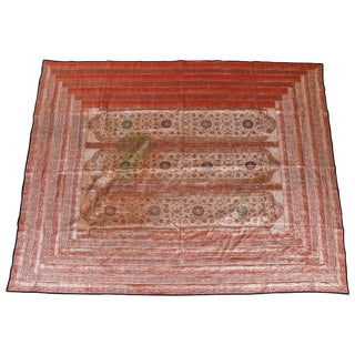 Indian Silk Sari Tapestry Quilt Patchwork For Sale