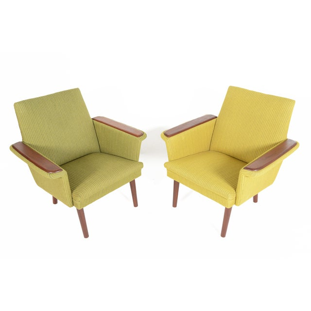 Danish Modern Teak Pawed Lounge Chairs - A Pair - Image 3 of 10