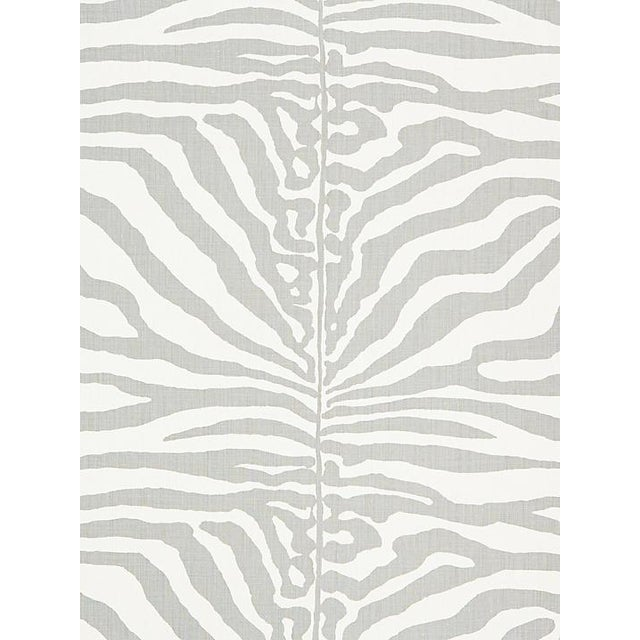 Safari Sample, Scalamandre Zebra, Zinc Fabric For Sale - Image 3 of 3