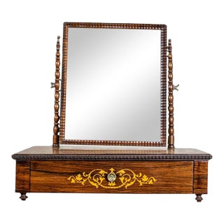 Early 20th Century 20th-Century Movable Inlaid Vanity Table For Sale