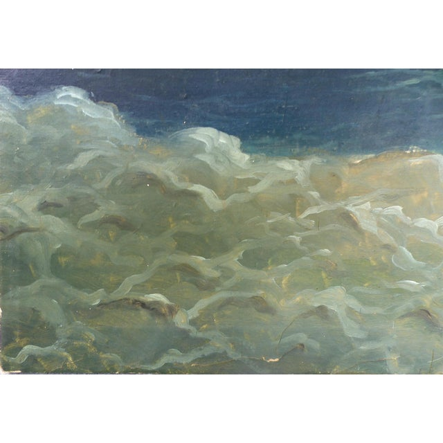 Nautical Russian 19th Century Seascape Oil Painting on Canvas Signed and Dated 1889 For Sale - Image 3 of 11