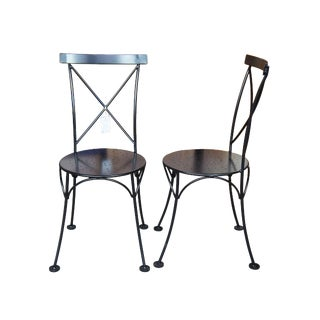 Furniture Design House European Metal Chairs- A Pair For Sale