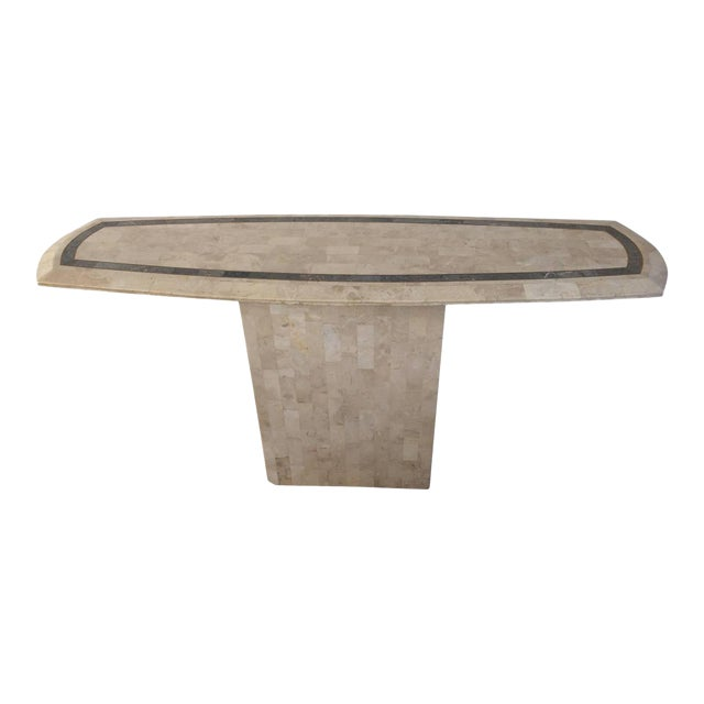 Maitland-Smith Tessellated Fossil Console Table For Sale