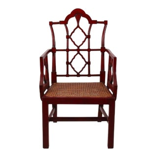 Chinese Chippendale Arm Chair For Sale
