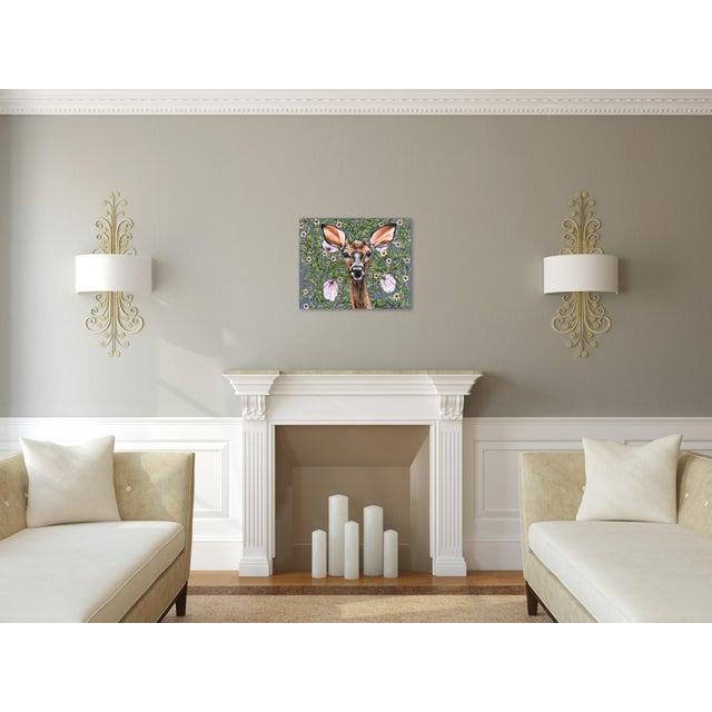"Canvas ""Deer"" Original Artwork by Naomi Jones For Sale - Image 7 of 9"