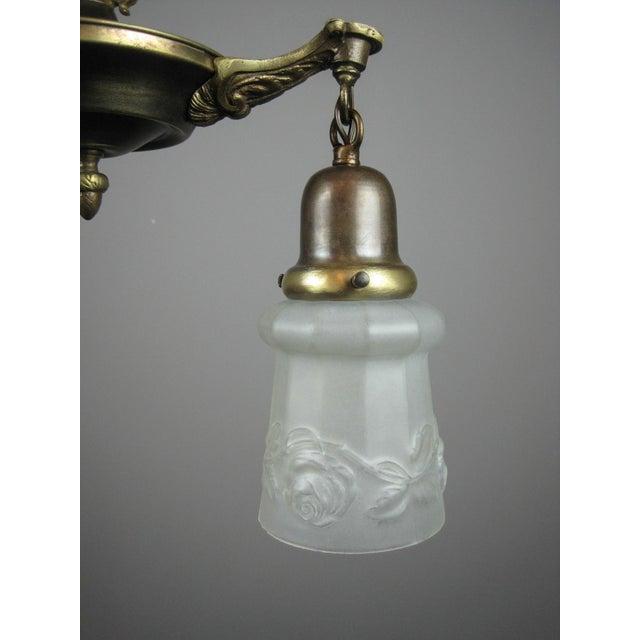 Original Pan Light Fixture (2-Light) - Image 5 of 9