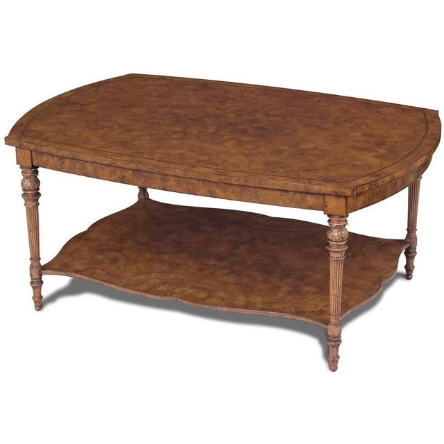 Victorian Scarborough House Victorian Burl Cocktail Table For Sale - Image 3 of 3