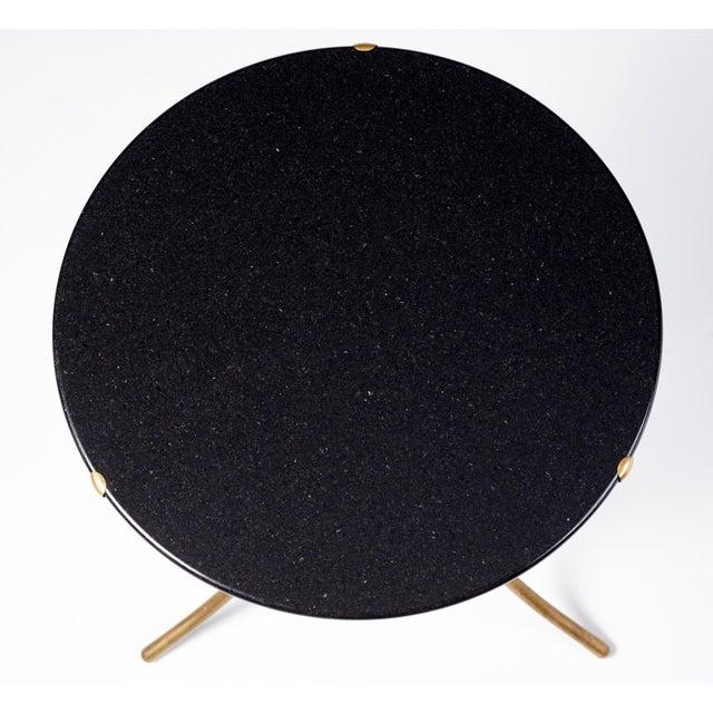 Cedric Hartman Black Granite AE Small Table, 1973 For Sale - Image 5 of 6