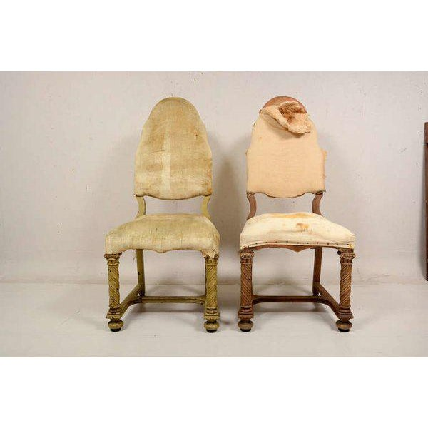 Pair of Antique Hand-Carved Chairs - Image 6 of 8